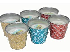 6pk Geo Bucket Citronella Candles
