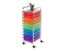 Honey Can Do 10 Drawer Multicolored Cart