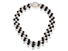 Vogue Pearls Black Sand Necklace