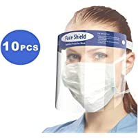 10-Pack Reusable Anti-Fog Face Shields with Adjustable Headbands