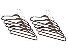 Chocolate Fleece Hanger 120-Pack