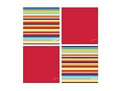 Fiesta Scarlet Multi Stripe Coasters