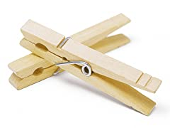 Natural Wood Clothespins Set Of 50