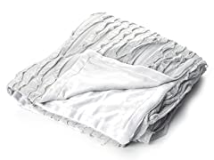 Ruffles 50x60 Throw-Grey Silk
