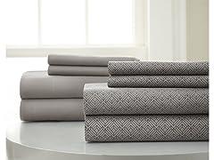 Amrapur Luxuriously Soft 100% Microfiber 8-Piece Sheet Set