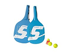 Speedminton Light Wooden Beach Paddle 2 Player Set