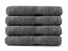 MicroCotton 4pc Bath Towel Set-3 Colors