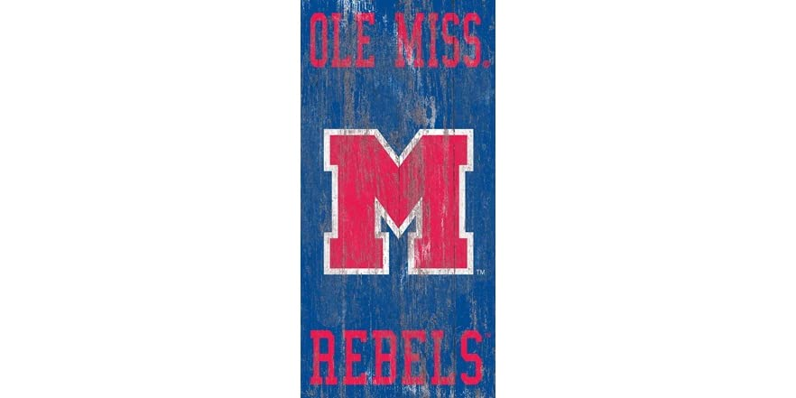 Fan Creations Distressed MTSU Heritage Logo w//Team Name 6x12 One Size