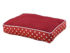 Cinnabar-Ikat Dot Red 20x30 Fiber Pet Bed