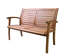 Outdoor Interiors Eucalyptus Bench