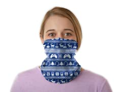 """Holiday High Score""  Winter Neck Gaiter - General Use"