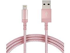 AB Nylon Lightning to USB-A Cable (10pk)