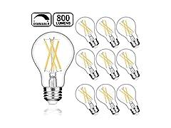 Dimmable A19 LED Edison Bulbs