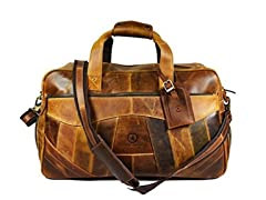 Aaron Leather Patchwork Duffle Bag