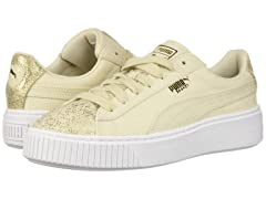 PUMA Women's Basket Platform Canvas Wn Sneaker