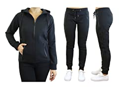 Women's Tech Fleece Jogger Hoodie Set