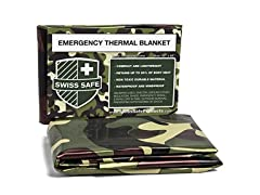 Swiss Safe Emergency Blankets, 4-Pack