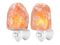 2-Pack Himalayan Salt Night Lights (Your Choice)