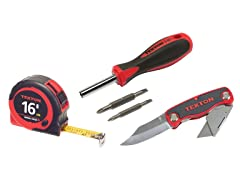 Tekton Knife, Screwdriver, Tape Measure Set