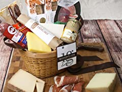 Connoisseur's Meat and Cheese Gift Basket