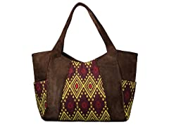 Annette Ferber Collections Bombay Kilim/Suede Shoulder