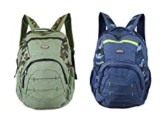 Multi-Compartment Assorted Backpack 1 or 2 PK