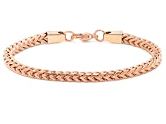 18kt Rose Gold Plated Box Bracelet