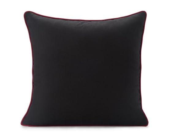 Spun Throw Pillow Silhouette Black
