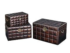 Leather Upholstered Box Set