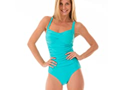 Ocean Jewel Maillot Swimsuit, Turquoise