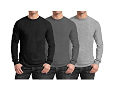 Men's Long Sleeve Crew Neck Tees 3-Pk