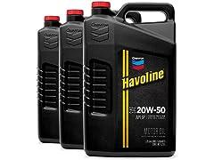 HAVOLINE 20W-50 Motor Oil, 5Qt, 3-pack