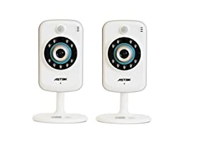 Astak 720P IP Camera w/16GB MicroSD - 2pk