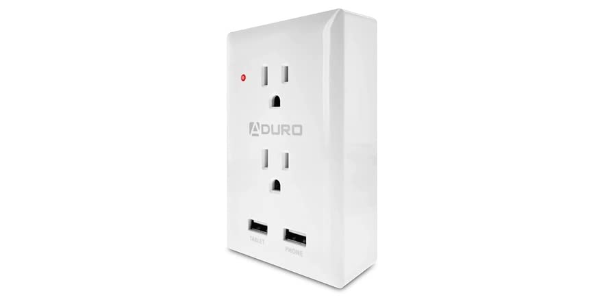 Aduro Surge Charging Station 2 Outlets Dual USB   WOOT