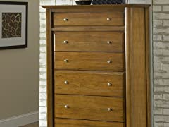 City II 6 Drawer Chest in Pecan