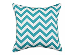 Zig Zag Teal 26x26 Floor Pillow