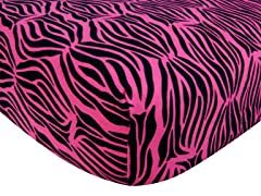 Zebra Print Flannel Crib Sheet