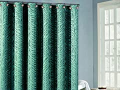 Marty Zebra Shower Curtain-4 Colors