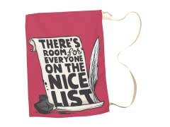 """The Nice List"" Large Gift Sack"