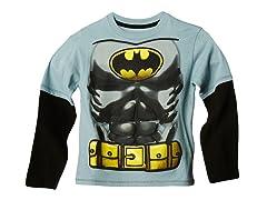 Batman Long Sleeve Tee - Grey (2T-7)