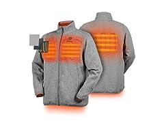 ORORO Men's Heated Fleece Jacket Full Zip w Battery Pack