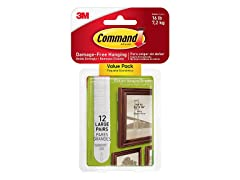 Command Picture & Frame Hanging Strips (12 Pairs)