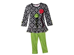 Tunic & Leggings Set - Blk/Wht (12M-6)