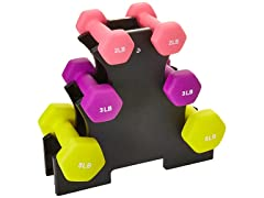 BalanceFrom Colored 20 lb. Dumbbell Set