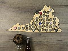 Beer Cap Map: Virginia
