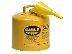 5 Gallon Galvanized Steel Diesel Can, Yellow