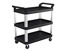 "20"" x 40"" 3-Tier Air Ride Rolling Utility Cart"