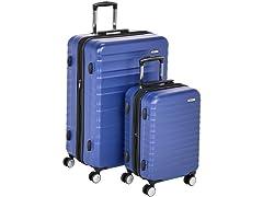 AmazonBasics Hardside Luggage- Blue, 2PC