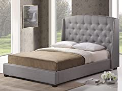 Ipswich Queen Platform Bed - Grey