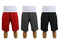 GBH Men's Mesh Lounge Shorts 3-Pack